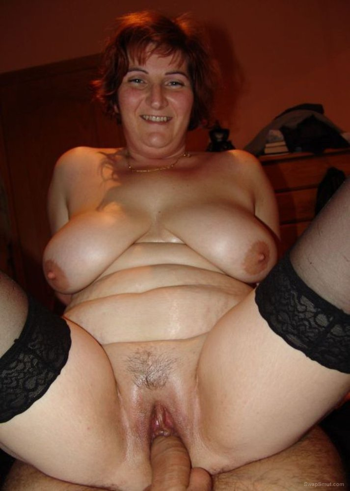 Mature amateur bbw wife on top