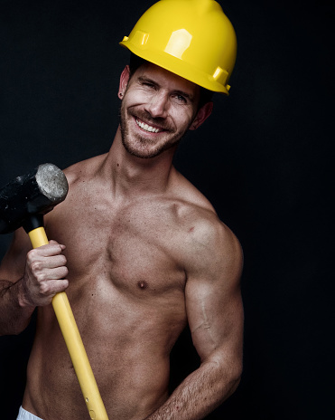 Sexy male construction workers